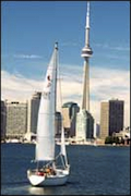 Sailboat on Lake Ontario - Toronto Canada
